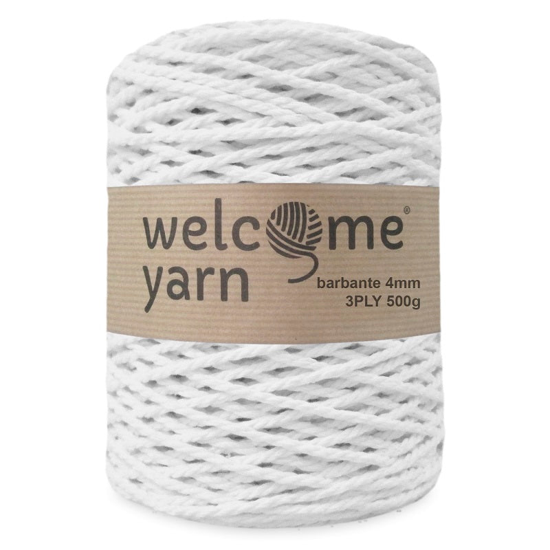 Barbante Yarn 3PLY White