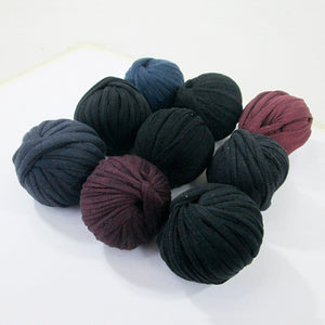 T-shirt Yarn Mini Balls Pack9x Dark Shades