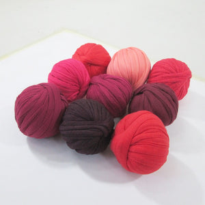 T-shirt Yarn Mini Balls Pack9x Shades of Red
