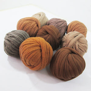 T-shirt Yarn Mini Balls Pack9x Shades of Brown