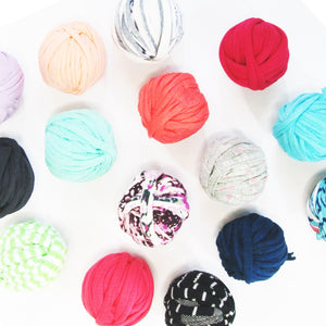T-shirt Yarn Mini Balls Pack12x Mixed Colours