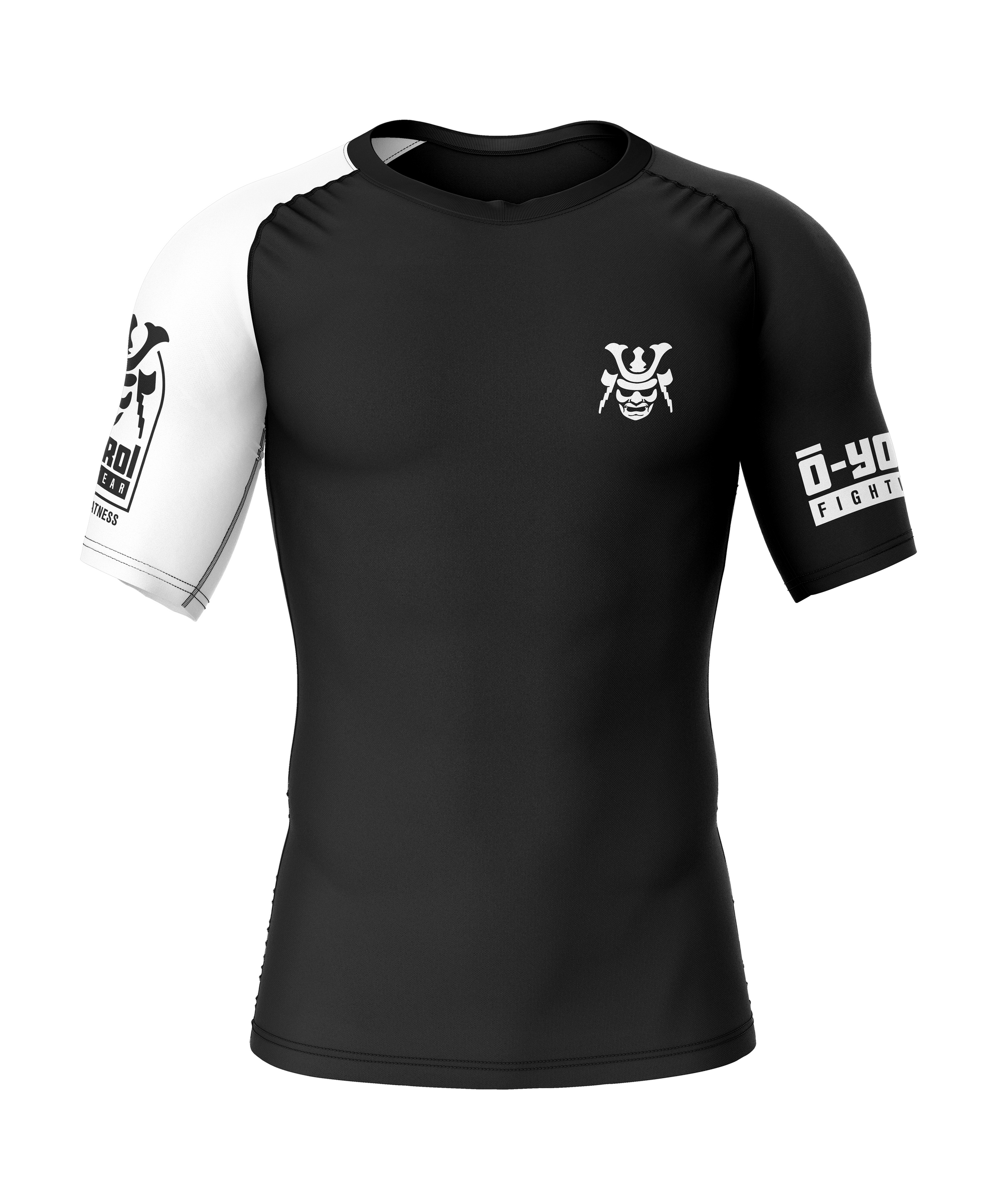 Women Rashguard Black and White S/S - favuke.com