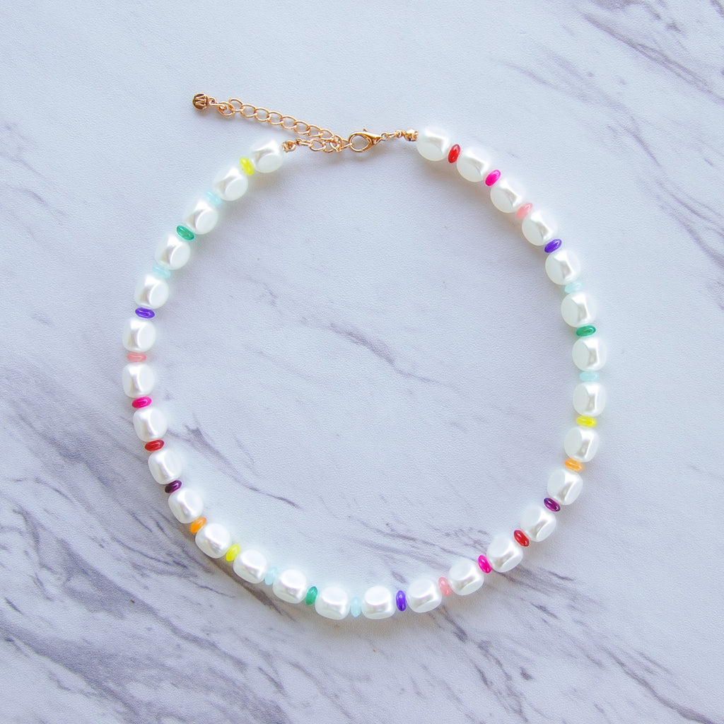 Pearl Rainbow Necklace - 11 & THOMS