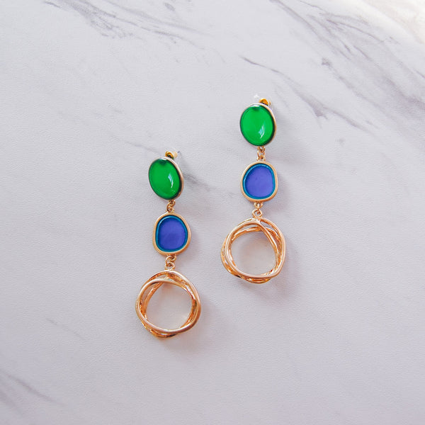 Abstract Earrings - Blue Lake - 11 & THOMS