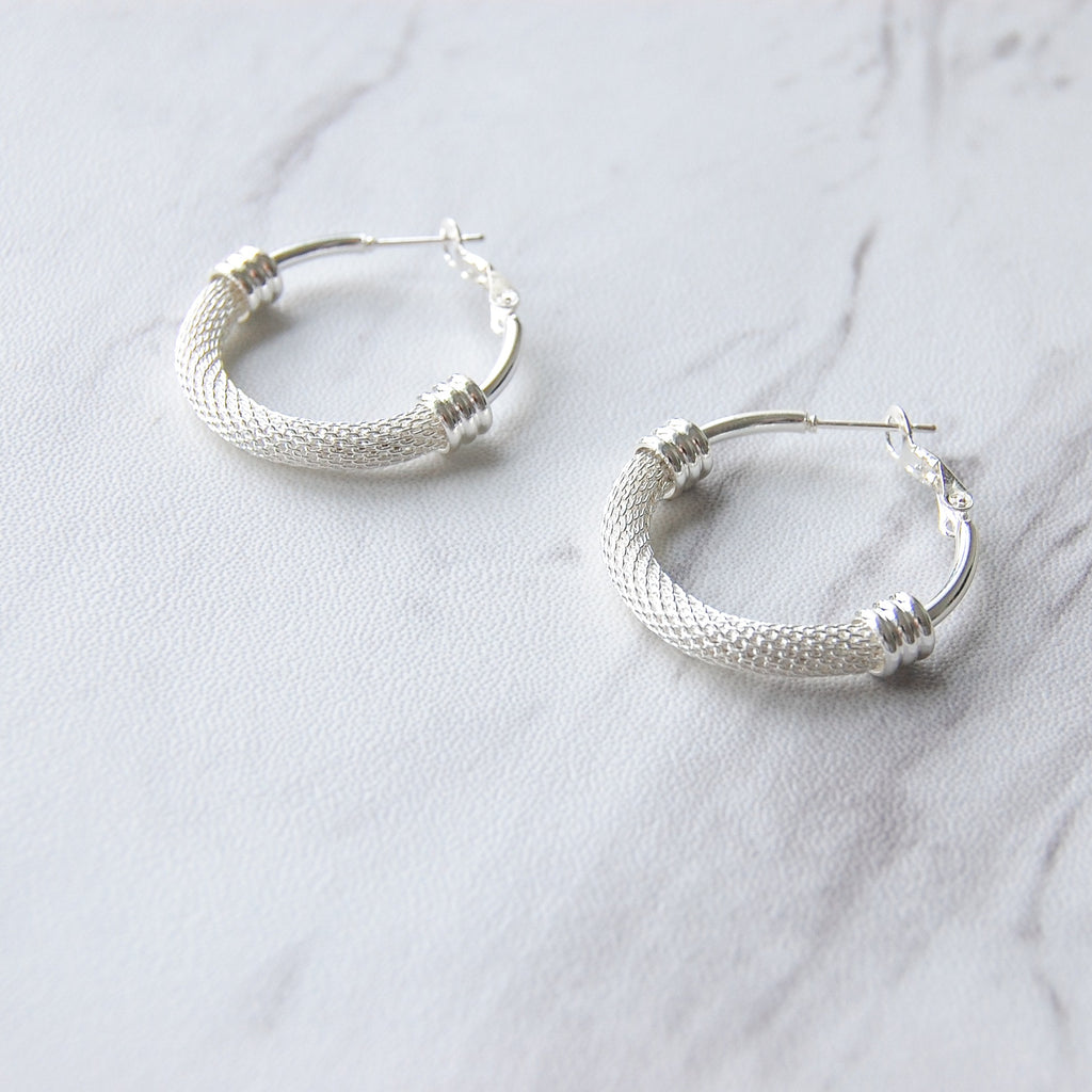 Davis Hoop Earrings | Silver - 11 & THOMS