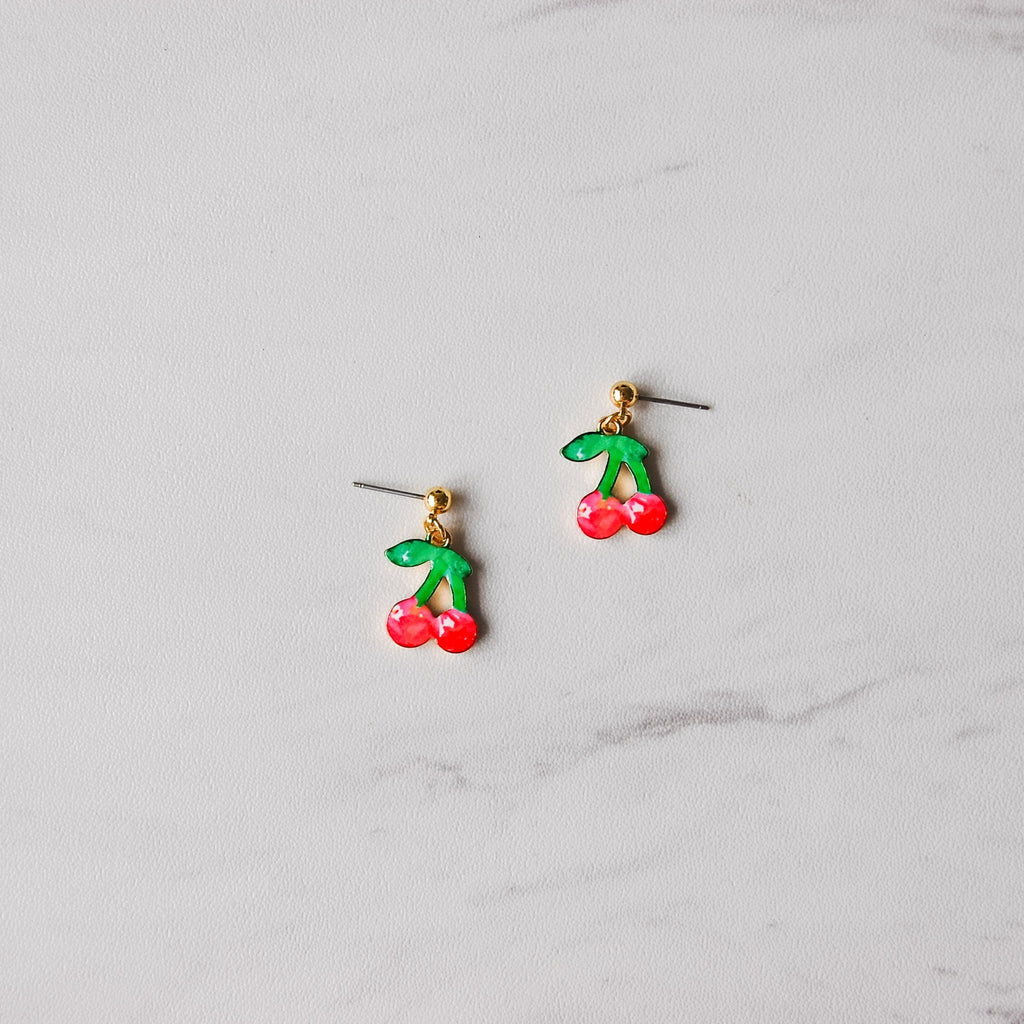 Cute Cherry Earrings - 11 & THOMS