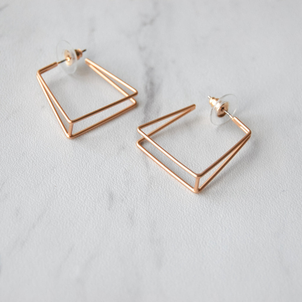 Trapezoid Hoop Earrings - 11 & THOMS