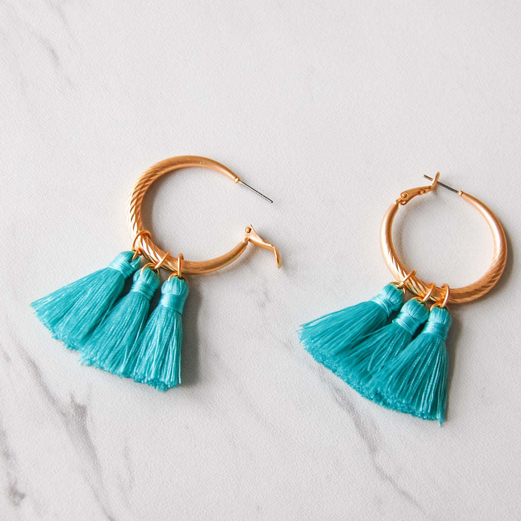 Three's Company Tassel Hoop - 11 & THOMS