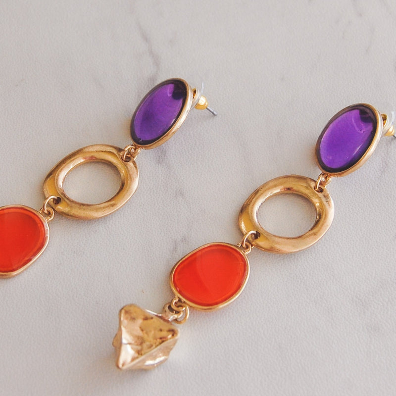 Abstract Earrings - Warm Sunrise - 11 & THOMS