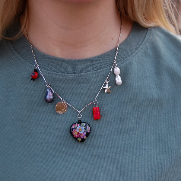 Traveler Charm Necklace - 11 & THOMS