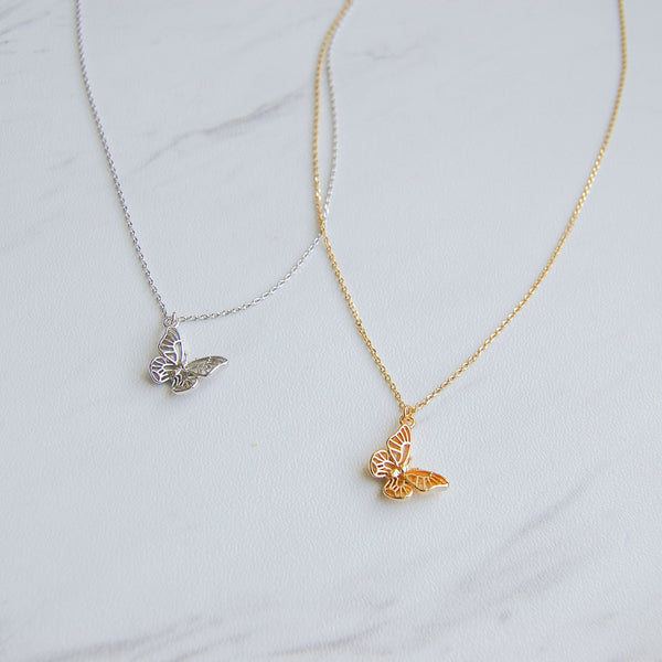 Cleo Butterfly Necklace - 11 & THOMS