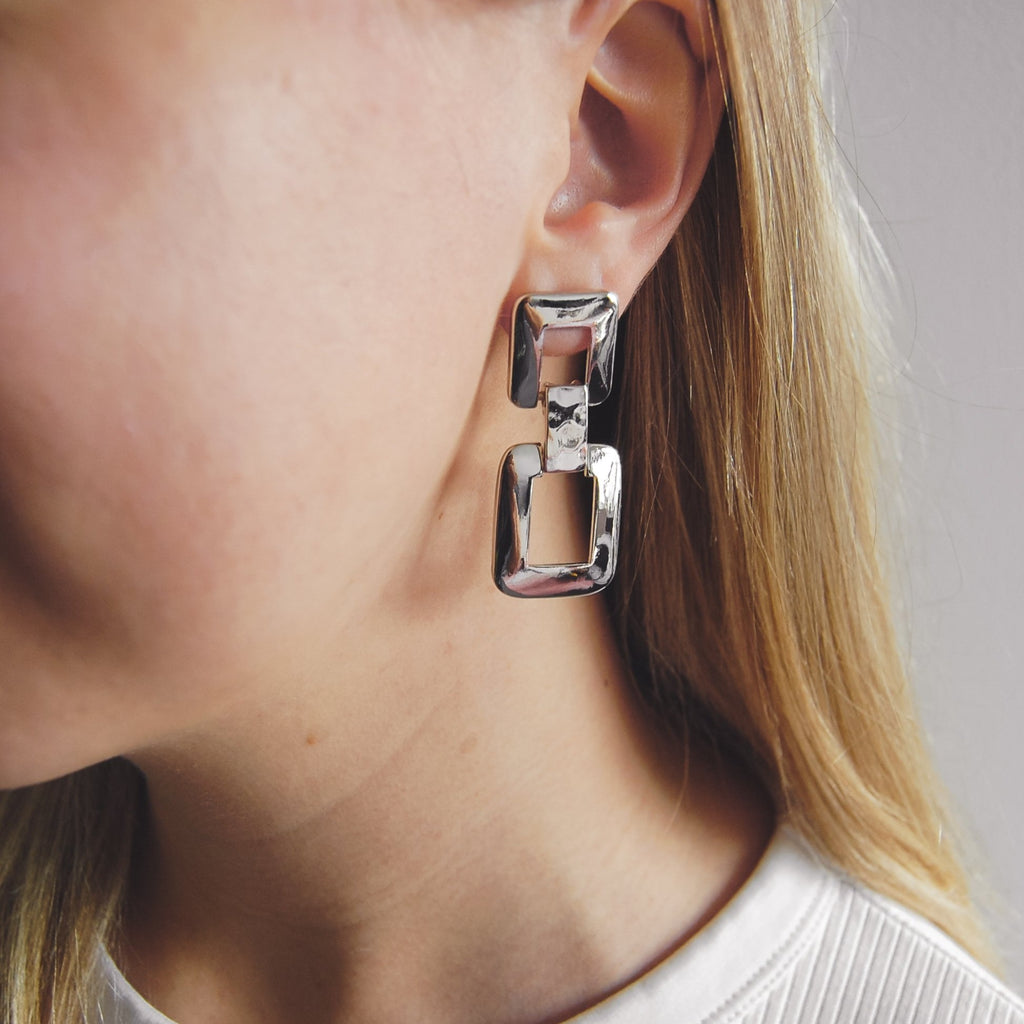 Bennett Box Earrings - 11 & THOMS