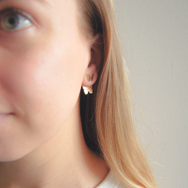 Double Butterfly Earrings - 11 & THOMS
