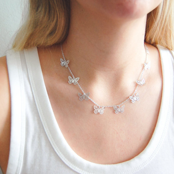 Fluttering Charm Necklace - 11 & THOMS
