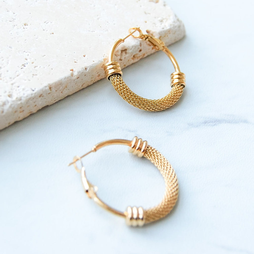 Davis Hoop Earrings | Gold - 11 & THOMS