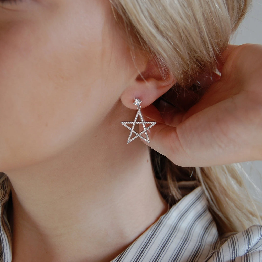 Handwritten Star Earrings - 11 & THOMS