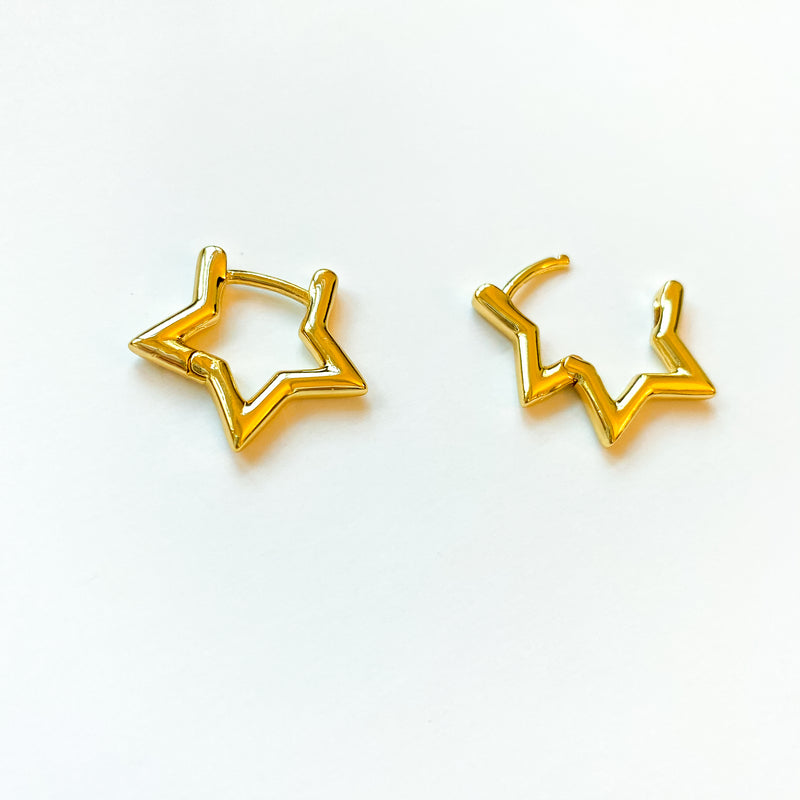 Golden Star Earrings - 11 & THOMS