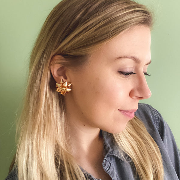 Holiday Bow Earrings - 11 & THOMS