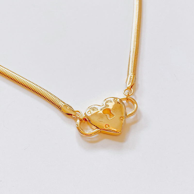 Heart Lock Necklace - 11 & THOMS