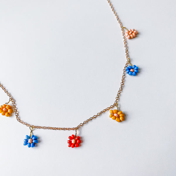 Daisy Charm Necklace - 11 & THOMS