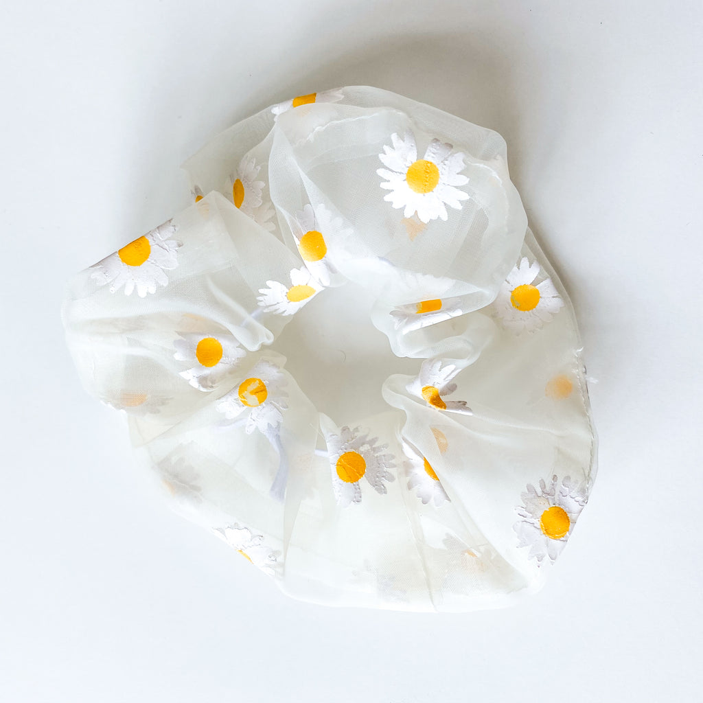 Sheer Daisy Hair Scrunchie - 11 & THOMS