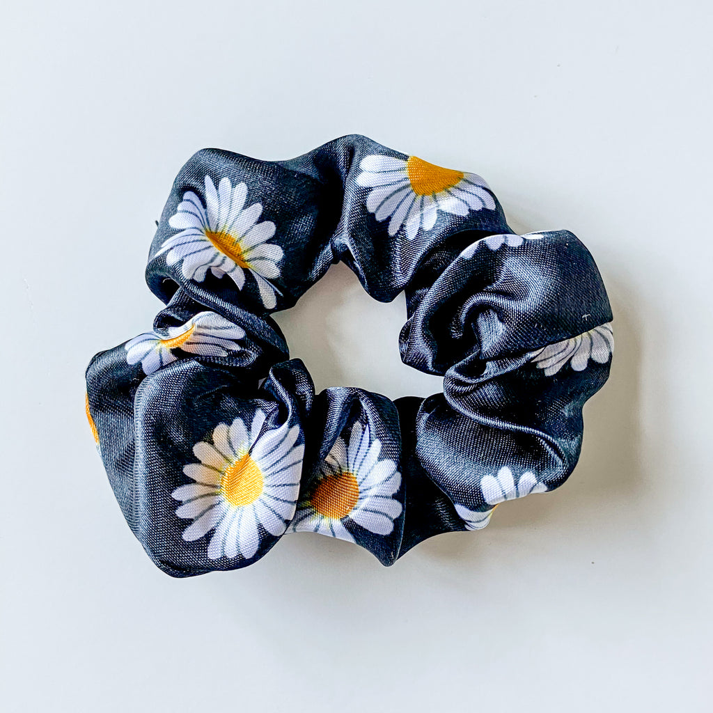 Satin Daisy Hair Scrunchie - 11 & THOMS