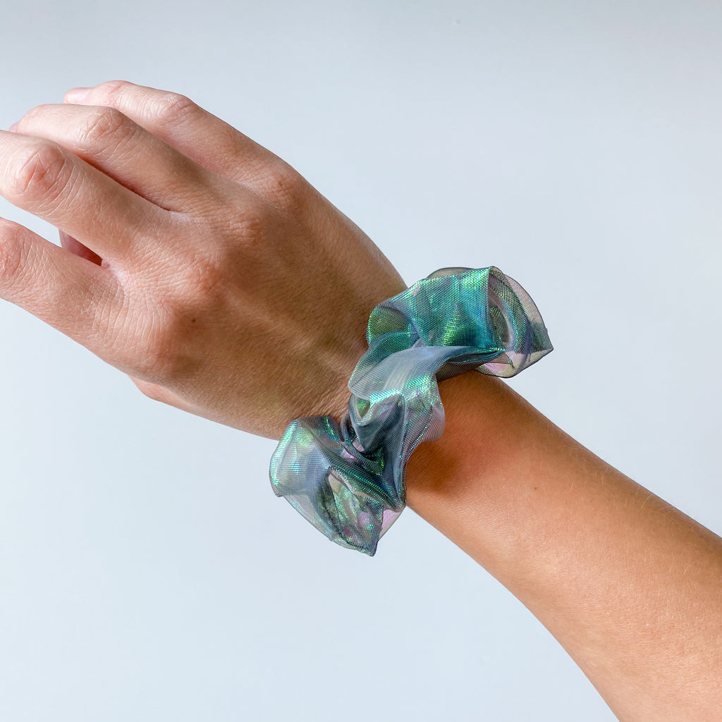 Iridescent Hair Scrunchie - 11 & THOMS
