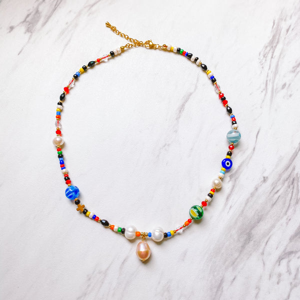 Bountiful Beaded Necklace - 11 & THOMS