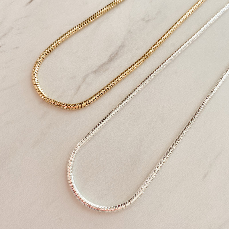 Thick Snake Chain Necklace - 11 & THOMS