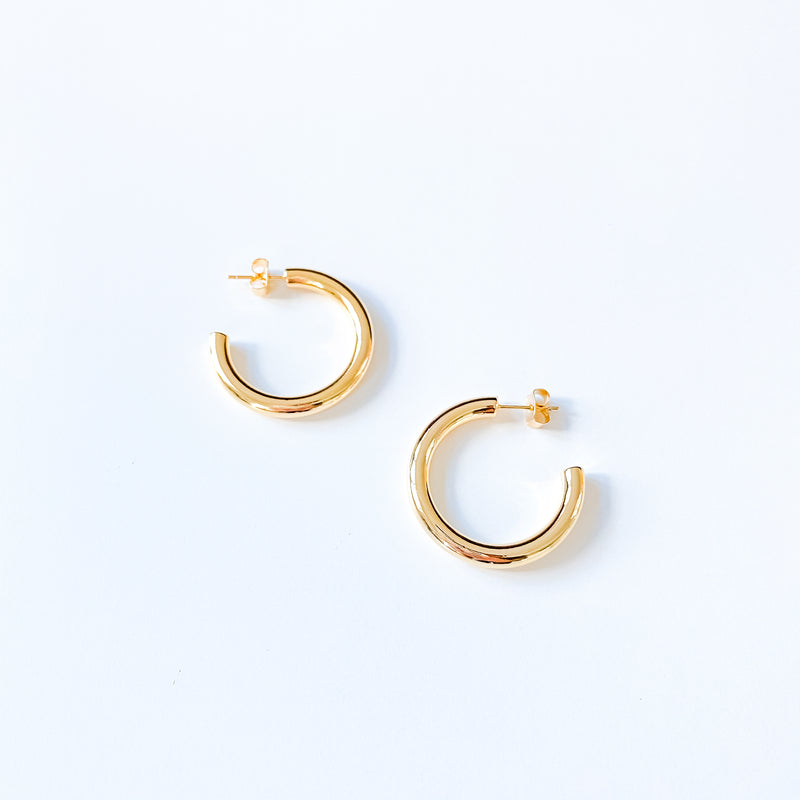 Classic Gold Hoops - 11 & THOMS
