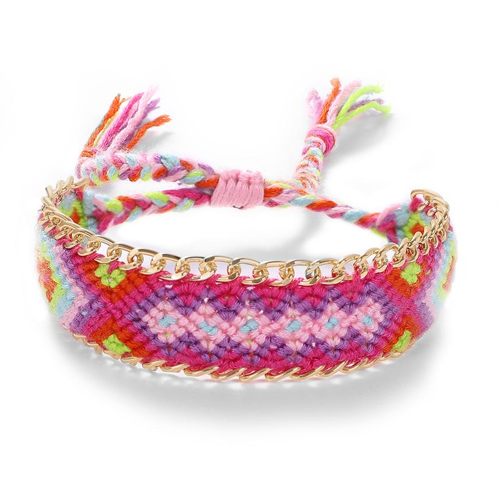 Friendship Goals Fabric Bracelet - 11 & THOMS