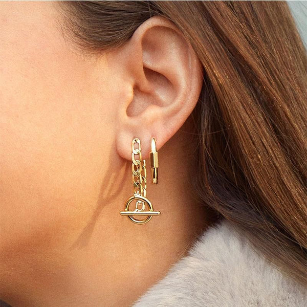 Toggle Chain Earrings - 11 & THOMS