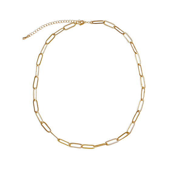 Textured Link Necklace - 11 & THOMS
