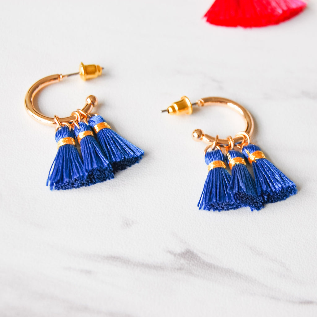 Tiny Tassel Hoop Earring - 11 & THOMS