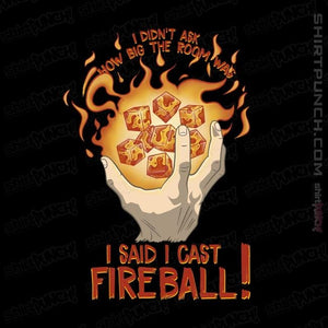"Shirts Magnets / 3""x3"" / Black I Cast Fireball"