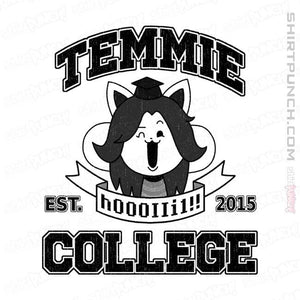 "Shirts Magnets / 3""x3"" / White Temmie College"
