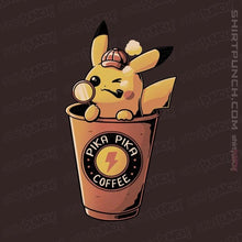 "Load image into Gallery viewer, Shirts Magnets / 3""x3"" / Dark Chocolate Pika Pika Coffee"