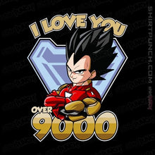 "Load image into Gallery viewer, Shirts Magnets / 3""x3"" / Black I Love You Over 9000"