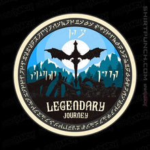 "Load image into Gallery viewer, Shirts Magnets / 3""x3"" / Black Legendary Journey"