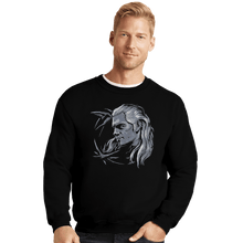 Load image into Gallery viewer, Shirts Crewneck Sweater, Unisex / Small / Black Monster Slayer