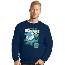 Load image into Gallery viewer, Shirts Crewneck Sweater, Unisex / Small / Navy Beware Of Chomp Chomp