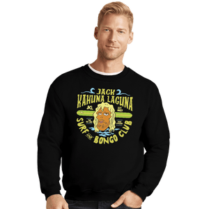 Shirts Crewneck Sweater, Unisex / Small / Black Jack Kahuna Laguna