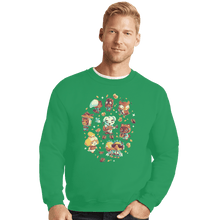 Load image into Gallery viewer, Shirts Crewneck Sweater, Unisex / Small / Irish Green Tarantula Island