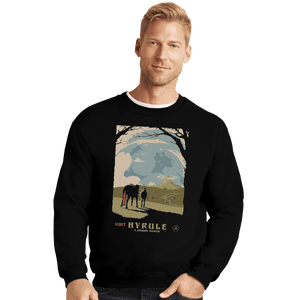 Shirts Crewneck Sweater, Unisex / Small / Black Epona Visit Hyrule