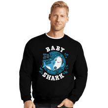 Load image into Gallery viewer, Shirts Crewneck Sweater, Unisex / Small / Black Cute Baby Shark