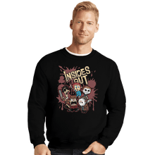 Load image into Gallery viewer, Shirts Crewneck Sweater, Unisex / Small / Black Insides Out