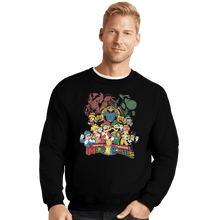 Load image into Gallery viewer, Shirts Crewneck Sweater, Unisex / Small / Black Mushroom Rangers