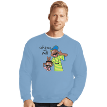 Load image into Gallery viewer, Shirts Crewneck Sweater, Unisex / Small / Powder Blue Carlton And Will