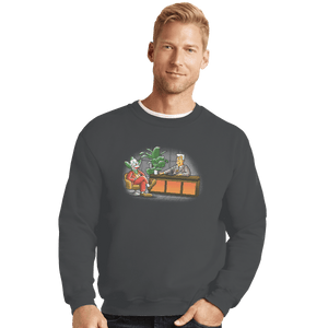 Shirts Crewneck Sweater, Unisex / Small / Charcoal TV Show