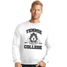 Load image into Gallery viewer, Shirts Crewneck Sweater, Unisex / Small / White Temmie College